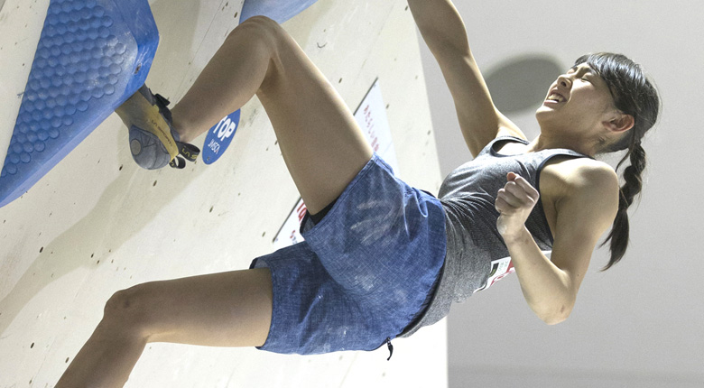 全完一撃の伊藤ふたばらが優勝/ボルダリングユース日本選手権鳥取大会2017
