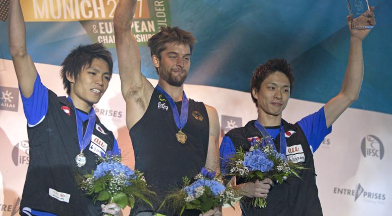 日本人3選手が最終戦を表彰台で締めくくる/ボルダリングW杯最終第7戦 ドイツ・ミュンヘン大会