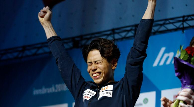 原田海、新たな世界王者に!/世界選手権2018【男子ボルダリング】