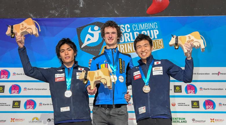 楢崎、野口が2位、杉本が3位/ボルダリングW杯2019開幕戦 スイス・マイリンゲン大会
