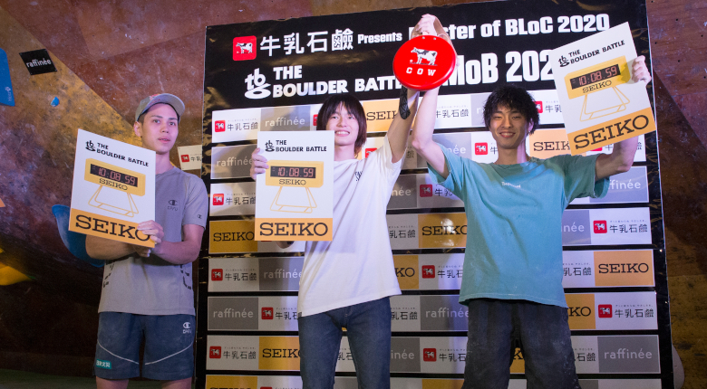 土肥圭太、石松大晟が同着優勝! 土肥は20歳の誕生日を自ら祝う THE BOULDER BATTLE【男子】