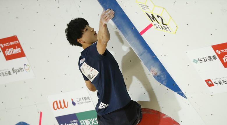 難関続きの男子は藤井快が首位発進 ボルダリングジャパンカップ2021【男子予選】