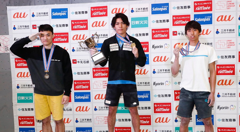 有言実行の日本新! 5.72秒で楢崎智亜が大会初優勝 スピードジャパンカップ2021【男子】